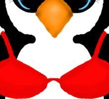 Penguin in Red Bikini Sticker