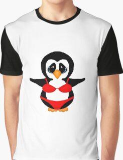 Penguin in Red Bikini Graphic T-Shirt