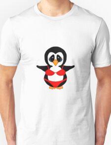 Penguin in Red Bikini T-Shirt