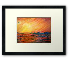 Sunset Departure by Heather Holland Framed Print