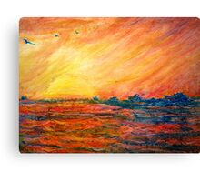 Sunset Departure by Heather Holland Canvas Print