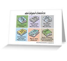abridged classics Greeting Card