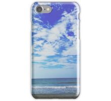 Sky Over Ocean (Dramatic Blue) iPhone Case/Skin
