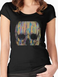 Psychedelic Skull Women's Fitted Scoop T-Shirt