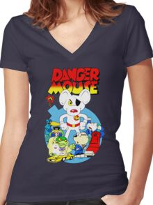 Danger Mouse Women's Fitted V-Neck T-Shirt