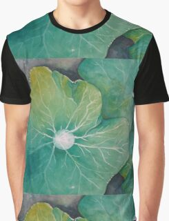 In Rosemary's Garden - Nasturtium Leaf with Dew Drops Graphic T-Shirt