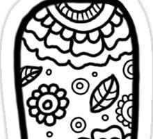 zentangle i: black/white Sticker