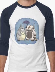 Totoro and Appa Men's Baseball ¾ T-Shirt