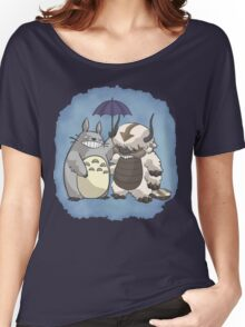Totoro and Appa Women's Relaxed Fit T-Shirt