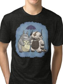 Totoro and Appa Tri-blend T-Shirt