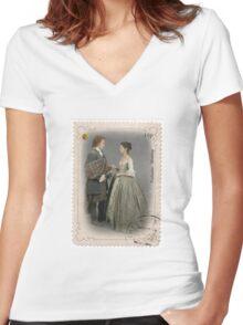 Outlander stamp/Outlander Wedding Women's Fitted V-Neck T-Shirt