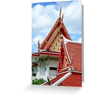 temple Temple in Bangkok, Thailand  Greeting Card