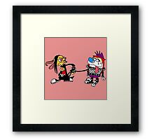 The Ren and Stimpy Rock Framed Print