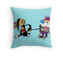 The Ren and Stimpy Rock Throw Pillow