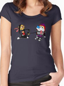 The Ren and Stimpy Rock Women's Fitted Scoop T-Shirt