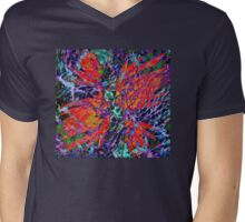 Hawaiian Dragon Claw Flower Mens V-Neck T-Shirt