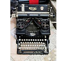 Old style Royal typewriter with ribbon  Photographic Print