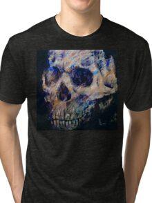 Ultraviolet Skull Tri-blend T-Shirt