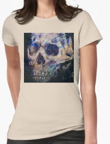 Ultraviolet Skull Womens Fitted T-Shirt
