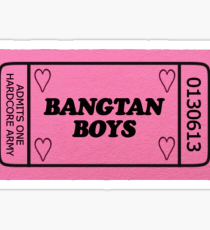 Bangtan Boys Ticket Sticker