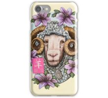 Year of the Sheep iPhone Case/Skin