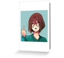 Frisk Icon Undertale Greeting Card