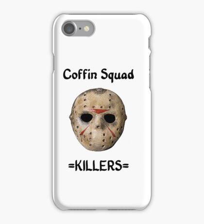 Coffin Squad Killers Hockey Mask iPhone Case/Skin