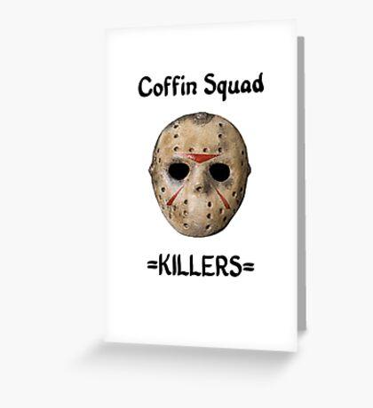 Coffin Squad Killers Hockey Mask Greeting Card