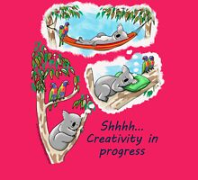 Koala dreams - Shhh… Creativity in progress Womens Fitted T-Shirt
