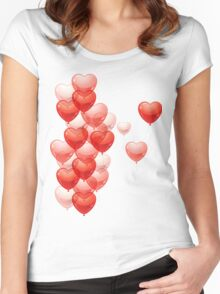 Baloon Hearts  Women's Fitted Scoop T-Shirt