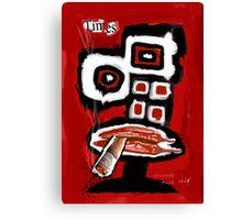 Time Takes a Cigarette Canvas Print