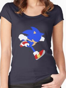Smash Bros - Sonic Women's Fitted Scoop T-Shirt