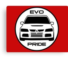 """Evo Pride"" - Mitsubishi Evolution VIII Sticker & Decal for Lancer fans Canvas Print"