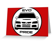 """Evo Pride"" - Mitsubishi Evolution VIII Sticker & Decal for Lancer fans Greeting Card"