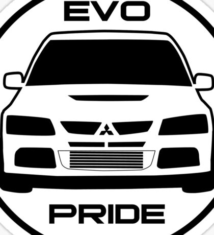 """Evo Pride"" - Mitsubishi Evolution VIII Sticker & Decal for Lancer fans Sticker"