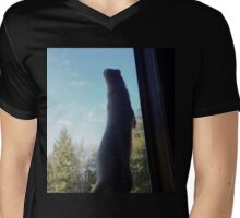 Ferret Its a Large World Out There Mens V-Neck T-Shirt