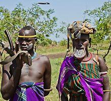 Mursi tribe couple  by PhotoStock-Isra