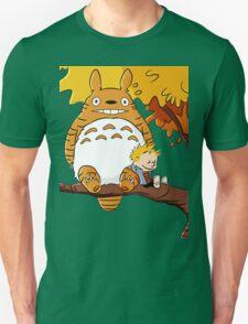 Totoro Calvin Hobbes T-Shirt