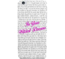 Taylor Swift - Wildest Dreams Lyrics iPhone Case/Skin