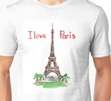 Famous place in France - the Eiffel Tower Unisex T-Shirt