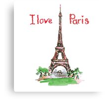 Famous place in France - the Eiffel Tower Metal Print
