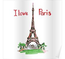 Famous place in France - the Eiffel Tower Poster