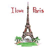 Famous place in France - the Eiffel Tower Photographic Print