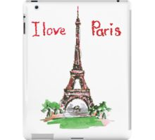 Famous place in France - the Eiffel Tower iPad Case/Skin