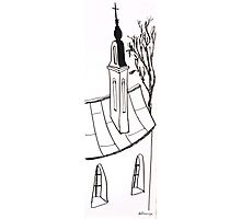 Sketch of beautiful church Photographic Print