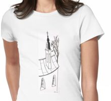 Sketch of beautiful church Womens Fitted T-Shirt