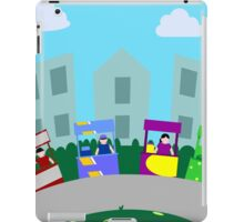 Food cart, street food kiosk in the city iPad Case/Skin