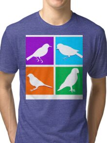 Colorful bird icons Tri-blend T-Shirt
