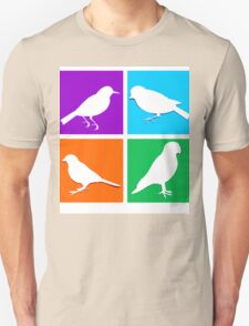 Colorful bird icons T-Shirt