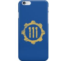 Fallout 4 - yellow Vault 111 iPhone Case/Skin
